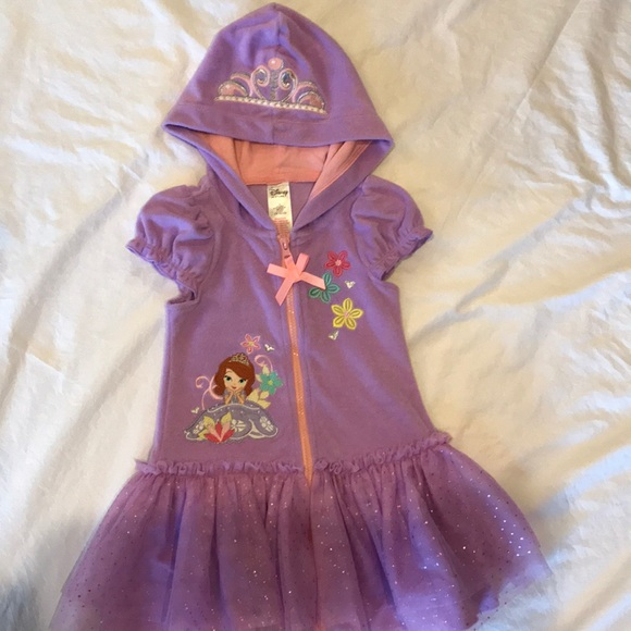 Disney Store Sofia the First Swimsuit Cover Up Swimwear Size XXS 3 3T
